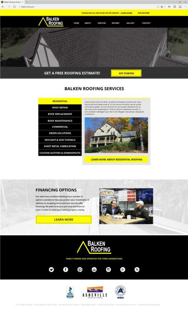 Balken Roofing website