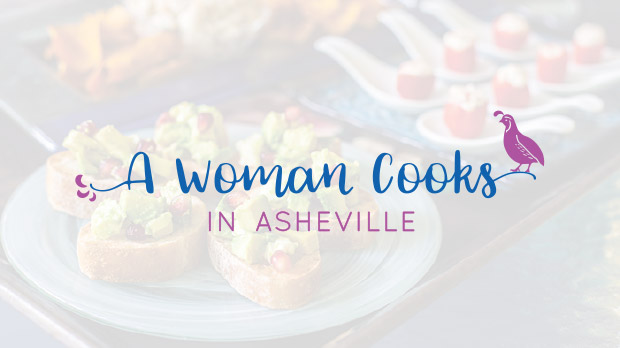 A Woman Cooks in Asheville web design