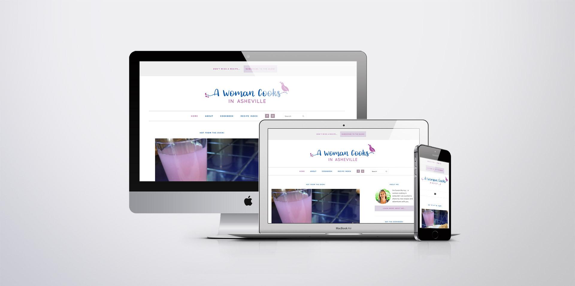 A Woman Cooks responsive Website Design