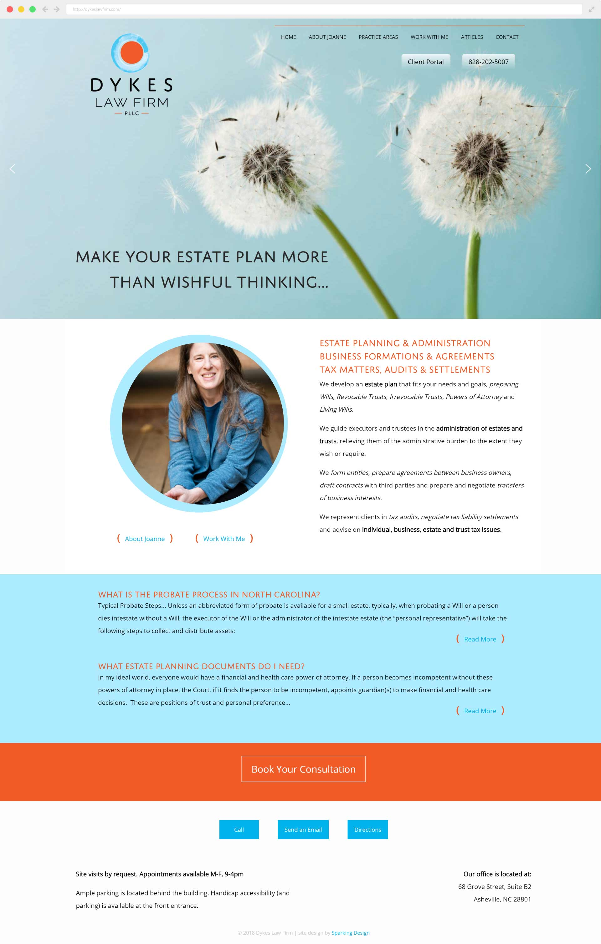 law firm website example