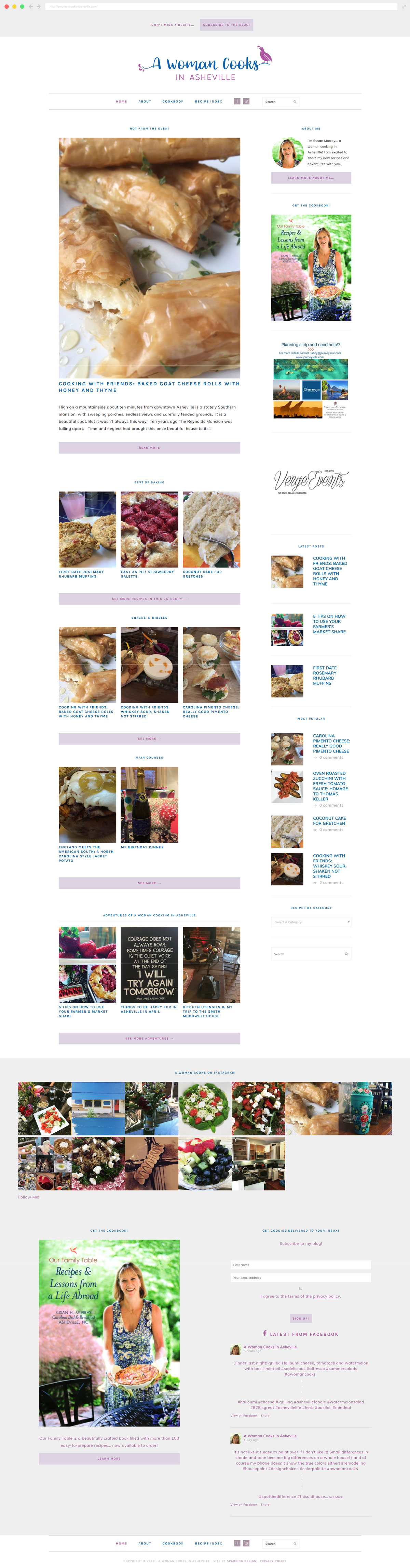 A Woman Cooks website example