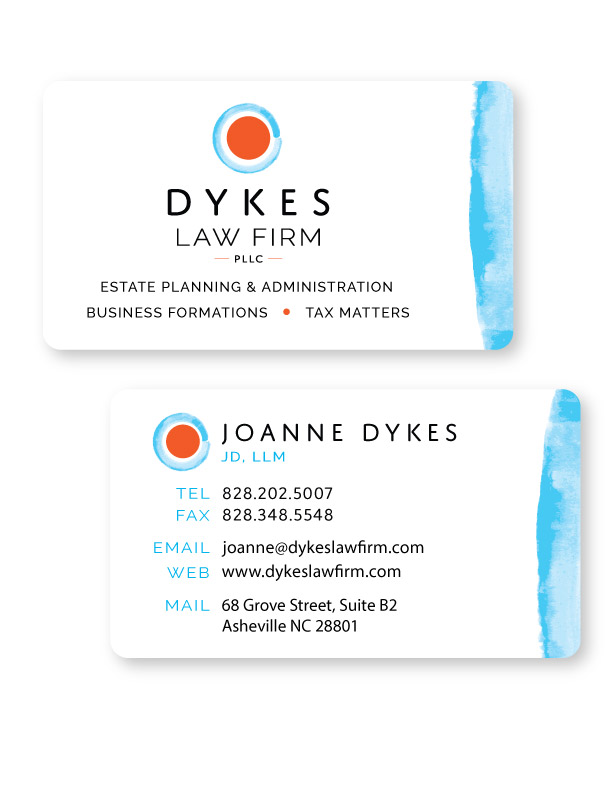 law firm business card example