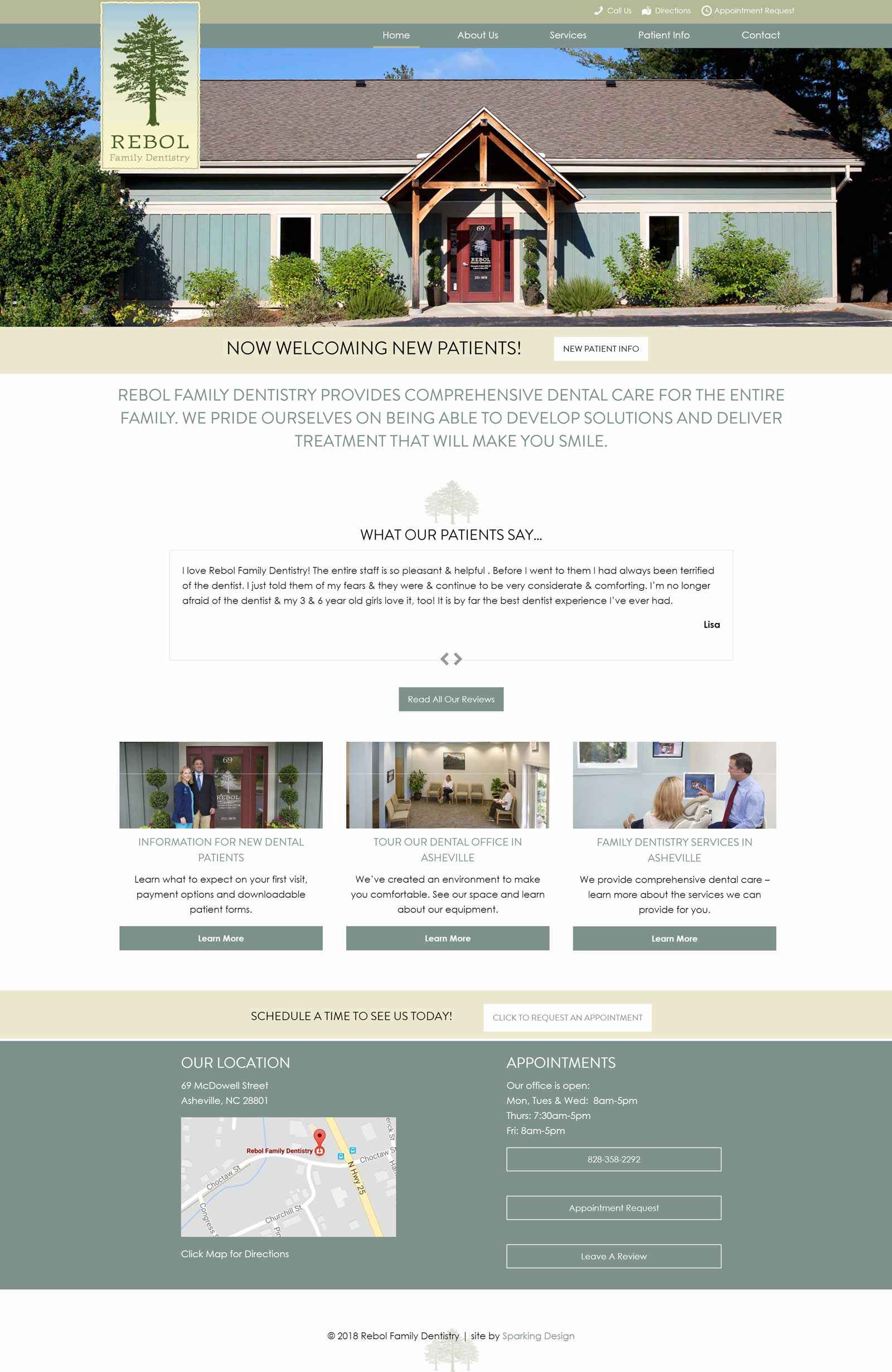 asheville dentist website example